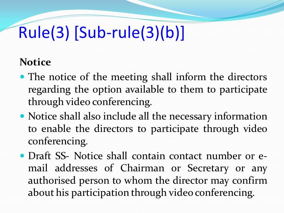 Rule(3) [Sub-rule(3)(b)]